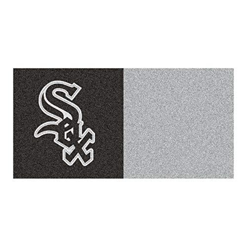 (MLB Chicago White Sox Team Carpet Tile Flooring Squares, 20-PC Set)