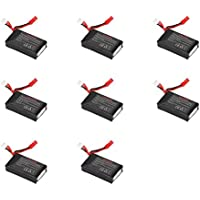 8 x Quantity of Walkera Rodeo 110 FPV Racing Quadcopter Rodeo 110-Z-21 Li-Po Battery 7.4V 850mAh 25C 2S 2 Cell Power Pack Lithium Polymer Fuel Source