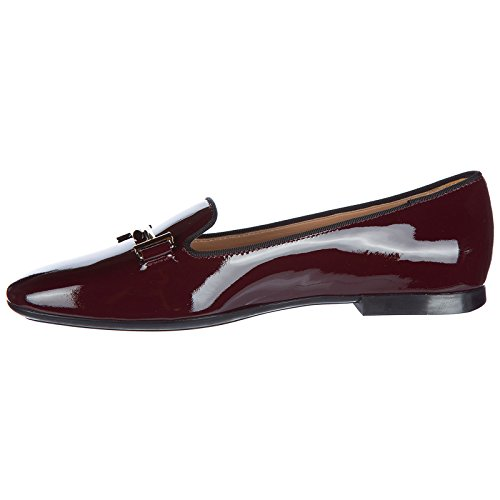 Tod's Women's Leather Loafers Moccasins 47a Double t Bordeaux ECEI4HrE