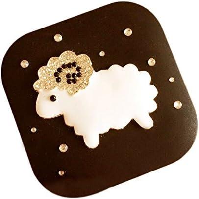 絶妙なファッション羊のコンタクトレンズケース - 黒のセット