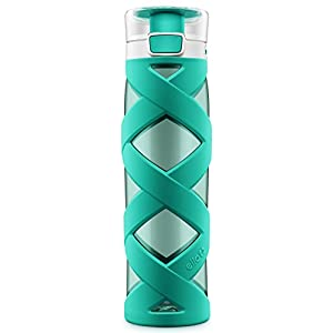 Ello Chi BPA-Free Plastic Water Bottle, Teal, 24 oz