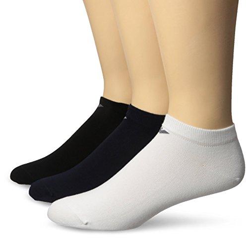 Emporio Armani Men's 3 Pack Basic Plain Cotton Socks, Multi, Sock Size:10-13/Shoe Size: - Summer Armani