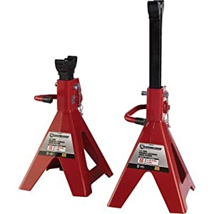 Strongway Double-Locking 12-Ton Capacity Adjustable Jack Stands