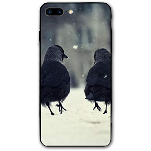 Xianjing iPhone 7 Plus Case/iPhone 8 Plus Case Birds Anti-Scratch PC Rubber Cover Lightweight Slim Printed Protective Case -