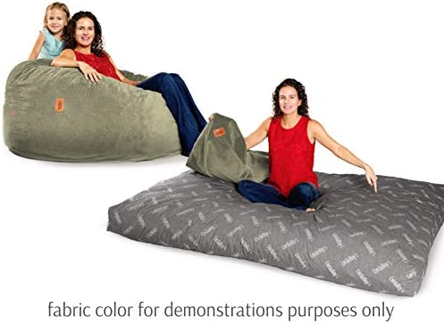 Peachy Cordaroys Chenille Bean Bag Chair Convertible Chair Folds From Bean Bag To Bed As Seen On Shark Tank Moss Queen Size Ncnpc Chair Design For Home Ncnpcorg