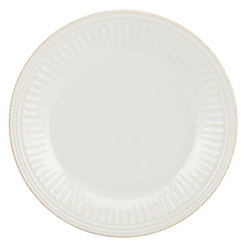 Lenox French Perle Groove Dinner Plate, White