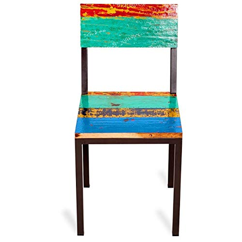 Gangway Multicolor Reclaimed Wood Iron Dining Chair Dining Chairs Set Side Room Style Century Back Solid Pair Mid - Chair Chippendale Style Mahogany Side