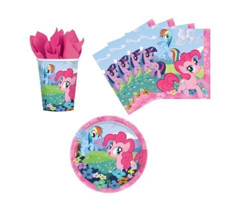 My Little Pony Birthday Party Supplies Set Plates Napkins Cups Kit for 16 by Designware