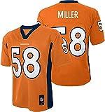 Von Miller #58 Denver Broncos NFL Youth Mid-tier Jersey Orange (Youth Small 8)