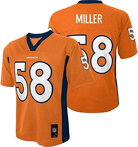 Von Miller #58 Denver Broncos NFL Youth Mid-tier Jersey Orange (Youth Small 8) by Outerstuff