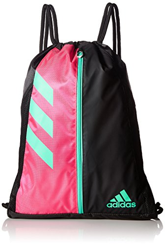 adidas Team Issue Sackpack, One Size, Shock Pink/Black/Bright Green