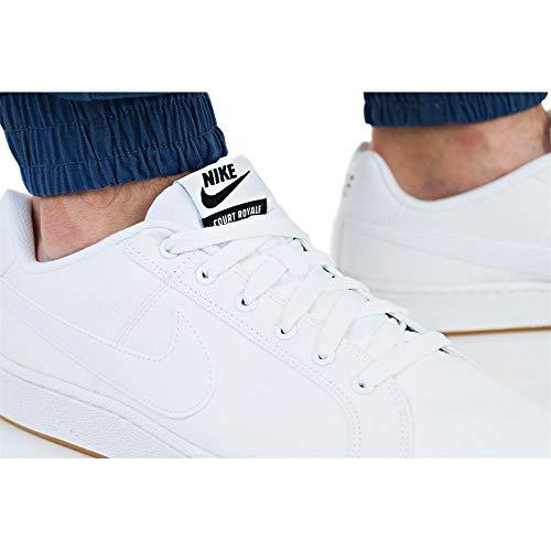 Nike Canvas Scarpe AA2156100 Uomo 43 Court Bianche Sportive Royale wA66xr