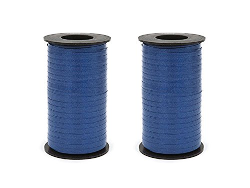 - Set of 2 Berwick 1 62 1 62 Splendorette Crimped Curling Ribbon, 3/16-Inch Wide by 500-Yard Spool, Navy