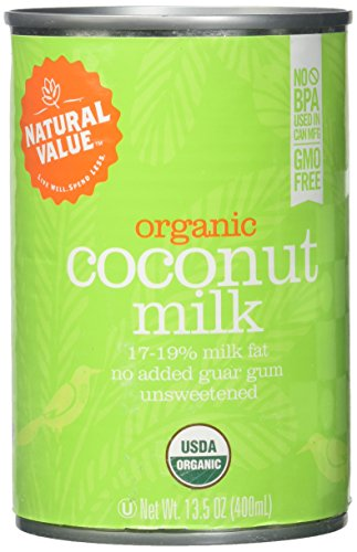 Natural Value B20963 Natural Value Organic Coconut Milks -12x13.5oz (Natural 1964)