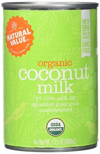 Natural Value B20963 Natural Value Organic Coconut Milks -12x13.5oz (1964 Natural)