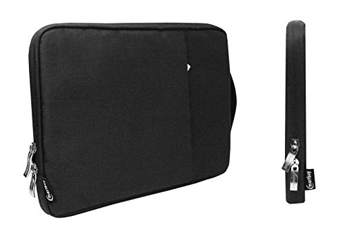 Emartbuy Universal 11.6-13.3 Inch Coal Black Carrying Bag Case Cover Sleeve with Retractable Handle and Zipped Pocket Suitable for Selected Laptops Notebooks Ultrabooks Listed Below