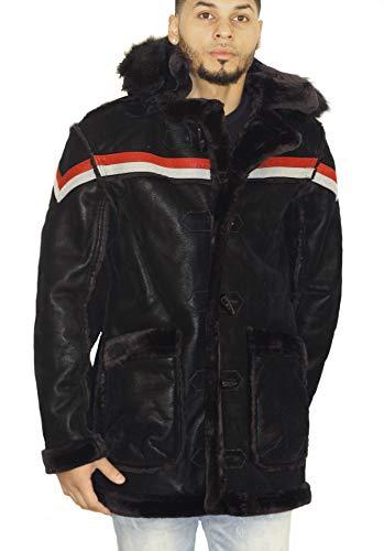 Jordan Graig Denali Shearling Jacket (Black Shadow) ()