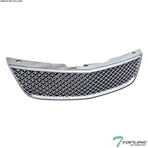 Topline Autopart Chrome Mesh Front Hood Bumper Grill Grille ABS For 00-05 Chevy Impala ()