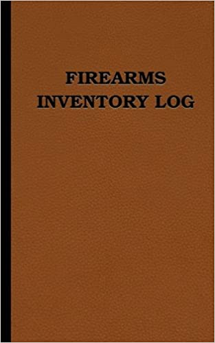 firearms inventory log 70 entries 5 x 8 logbook leather look