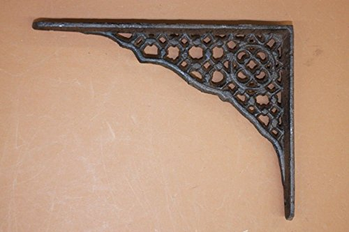 Mission Style Wall Shelf Brackets Rustic Cast Iron 6 3/8