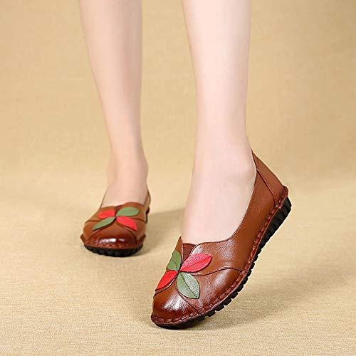 Marron coloré Chaussures Taille Zhrui 38 Noir Eu BC65gYYqw