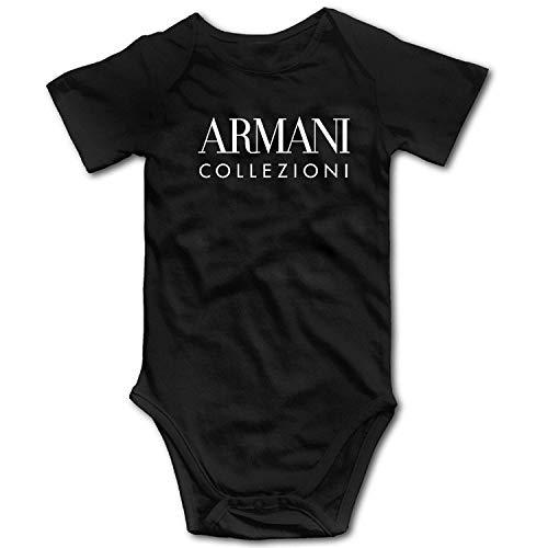 yus-Armanis-ert Replica Unisex Baby Infant Collezioni Onesies Bodysuit Romper Black