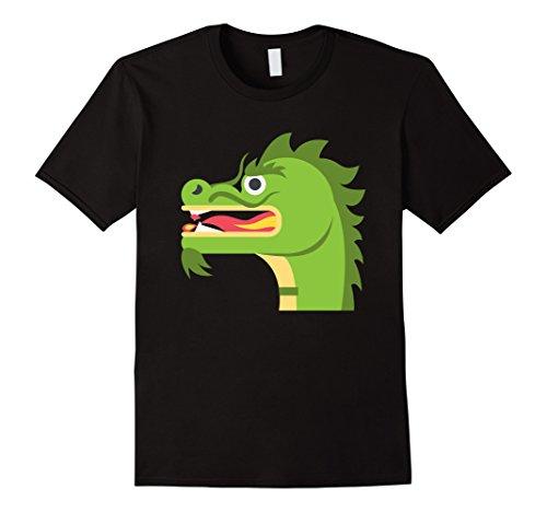 Men's Cute Green Dragon Funny Spirit Animal T Shirt Costume Tee Medium Black (Cute Animal Costumes For Men)