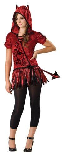 In Da Hood (InCharacter Costumes Women's Devil In Da Hood Costume, Red/Black, Medium)