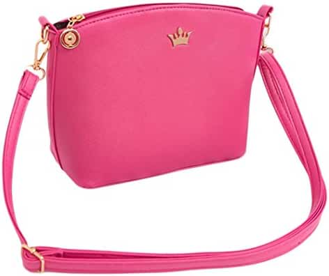 Mini Shoulder Bag,Hemlock Women Girl Zipper Bag Clutch Handbags (Hot pink)