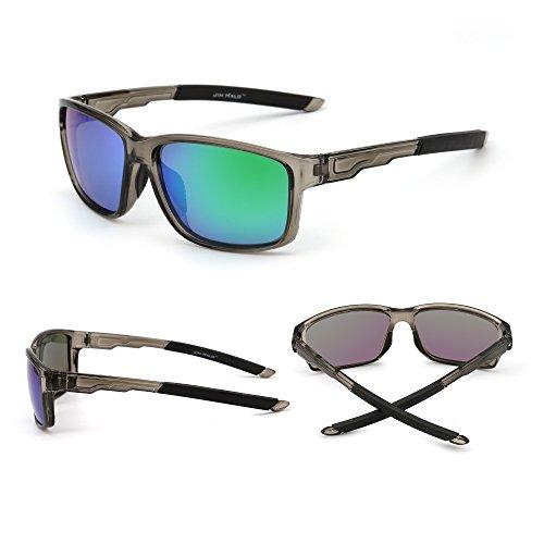 03bd218b11 Gafas de Sol Deporte Polarizadas Espejo Wrap Around Conducir Pesca Hombre  Mujer Delicado