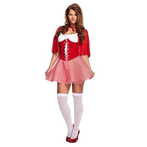 Sexy Little Miss Red Fancy Dress Costume (Little Red Riding Hood Halloween Costume Uk)