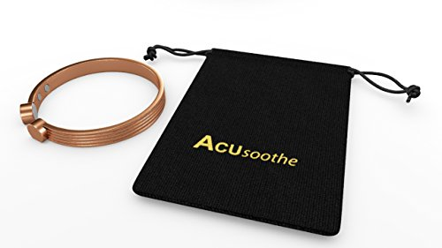Acusoothe Pure Copper High Quality Elegant Horse Shoe Design Wrist Cuff Bracelet Pain Relief Arthritis Therapy Aid Magnetic Designer Bangle With 6 High Power 2500 Gauss Magnets For Ladies & Men In Beautiful Velvet Pouch.