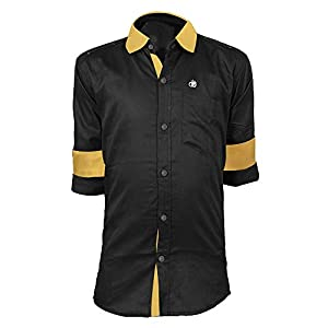 Zolario Cotton Shirt for Boys, Ideal for Age 9-16 Years, 4 Color White, Blue, Black, Yellow & Red, Normal Wash…