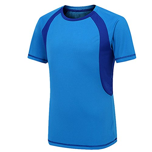 Shirt Quick Sleeve Zhhlaixing Short Azul T Dry Men Sports HZHwcqE0