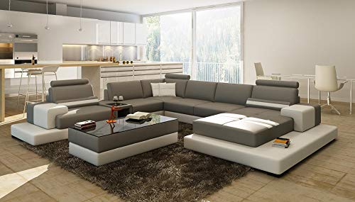 My Aashis Luxury Contemprory U Shape Sofa Modular sectional Leather Lounge 5 7 seat 6 Chaise
