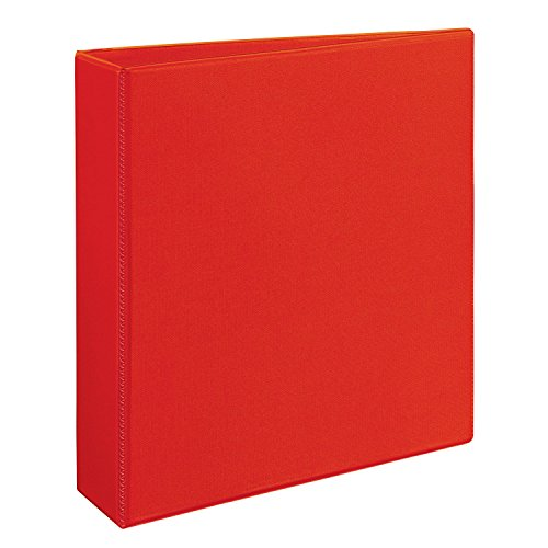 Avery Heavy Duty View Binders with One Touch EZD(TM) Ring, Holds 8-1/2 Inch x 11 Inch Paper, 2 Inch Ring, Red (79225)