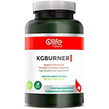KGBURNER, High Quality European Digestive Enzymes, Supports Slimming & a Healthy Digestion, 60 Vegan Capsules