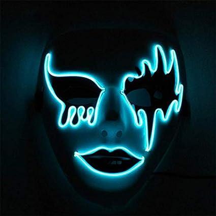 MKDASFD Halloween Máscaras iluminadoras de luz fría de ...