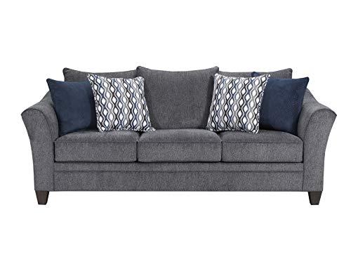 Simmons Upholstery 6485PK-03 Allegro Pewter Sofa,