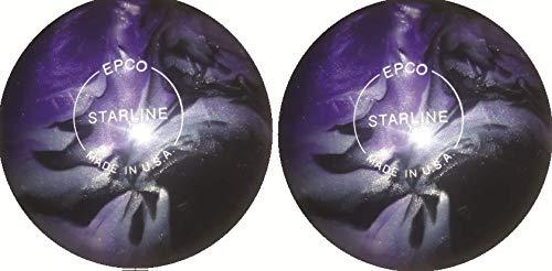 EPCO-Duckpin-Bowling-Ball-Starline-Lavender-Silver-Black-Pearl-2-Balls