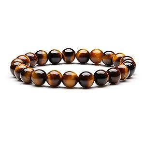 Bracelet de méditation en pierre œil de tigre – Bracelet reiki élastique de guérison du mauvais esprit