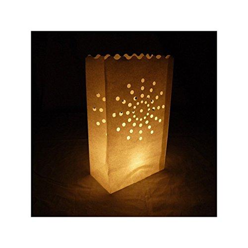 - PaperLanternStore.com Sunburst Paper Luminaries / Luminary Lantern Bags Path Lighting (10 PACK)
