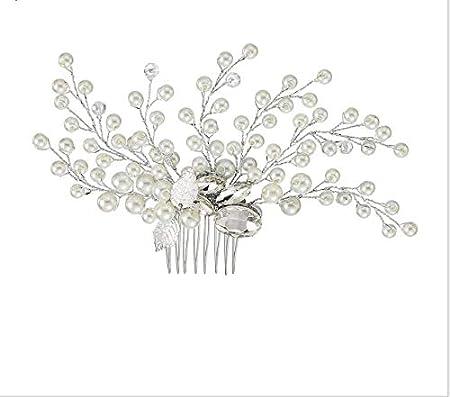 Cathercing - Juego de collar y pendientes para novia, con cristales artificiales, para bodas, bailes, princesas y reinas