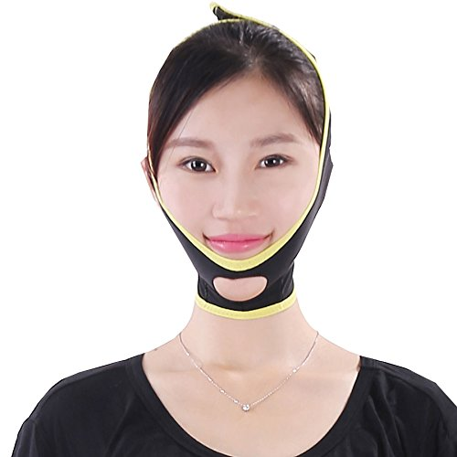 Jaw Line (MELADY® Fashion Lightweight Breathable Anti Wrinkle Jaw Pulling Thin Double Chin Compact Type V Line Face-lift Belt Mask Facial Exercisers (M))