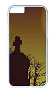 MOKSHOP Adorable Cemetery Sky Hard Case Protective Shell Cell Phone Cover For Apple Iphone 6 (4.7 Inch) - PC White