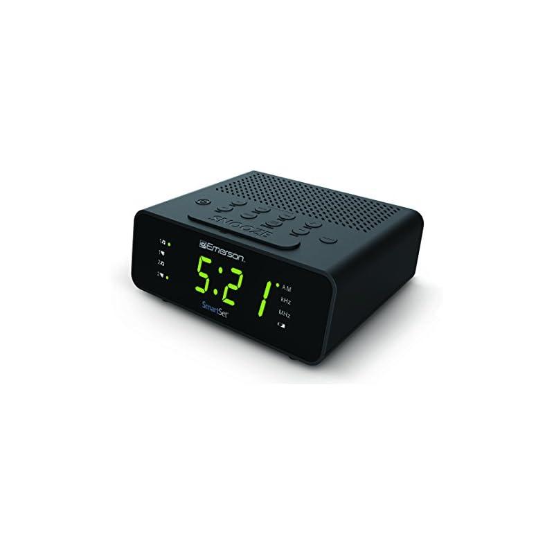 Emerson CKS1800 SmartSet Alarm Clock Rad