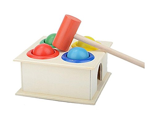 Yingealy Educational Toy Children's Piling Bench Hammer Box Baby Intelligence Educational Toys