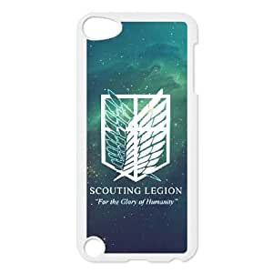 Personality customization TPU Case with Attack On Titan iPod Touch 5 Case White
