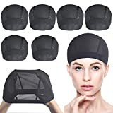 6 PACK Wig Caps for Wig Making - Stretchable Dome