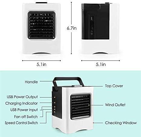 Mini Ventilador de Aire Acondicionado de Escritorio Pequeño ...